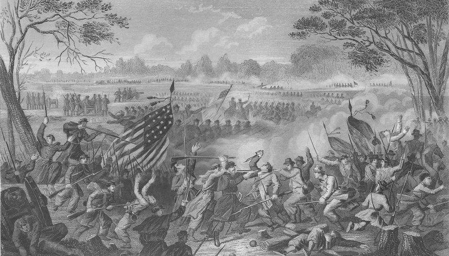 Black and white civil war image