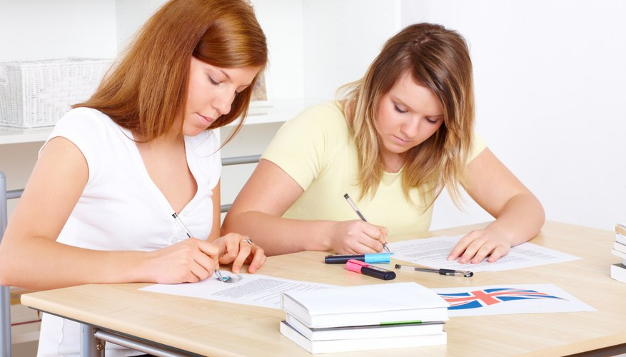 Women studying English.