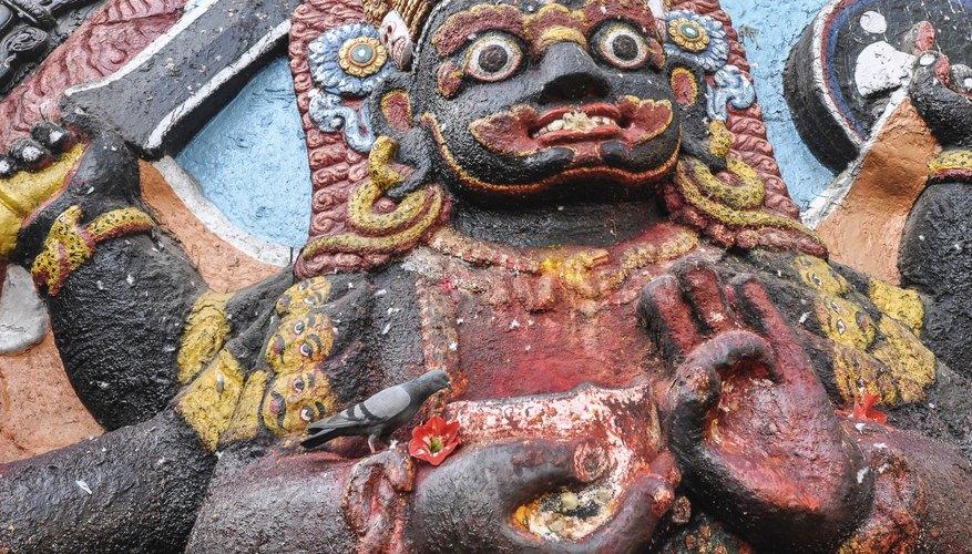A statue of the Hindu deity, Kali.