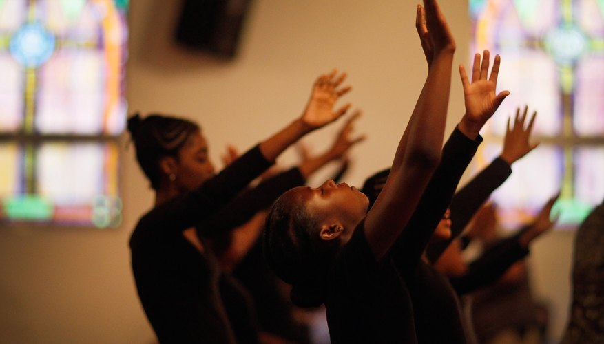 Praise dance can express community emotions, such as at this prayer service for Trayvon Martin at Allen Chapel A.M.E. Church in Florida.
