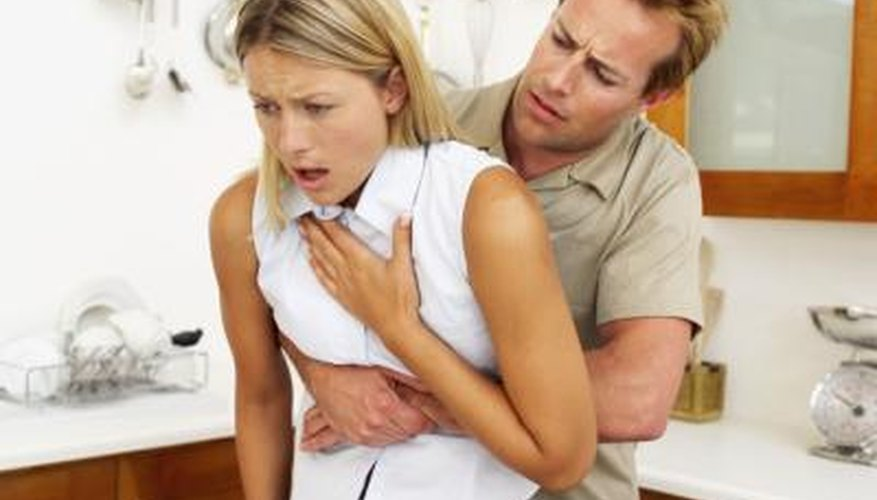 The Heimlich manoeuvre can help dislodge food.