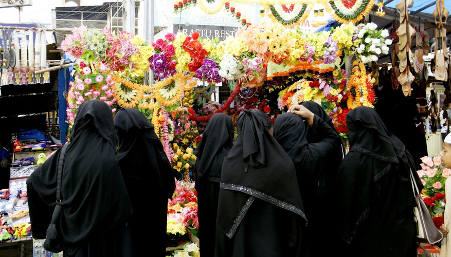 A group of women dressed in niqab.