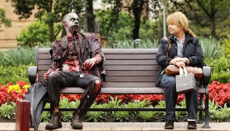 A zombie takes to the street in Sydney.