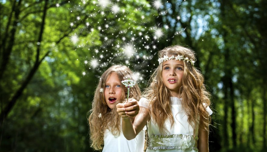 The magical effects of a fairy tale are emulated with twinkle lights.