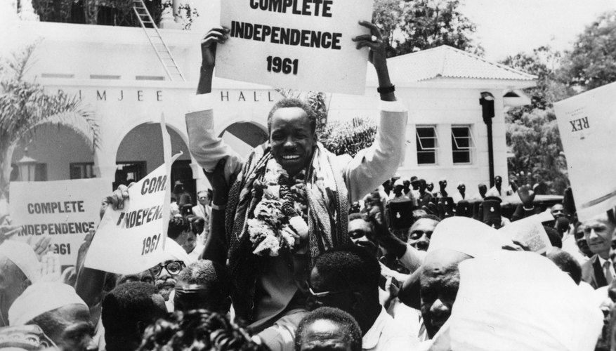 Tanganyikans celebrate independence in the streets of Dar es Salaamin in 1961.