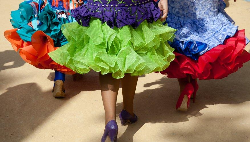 Flamenco dresses in Andalusia, Spain.