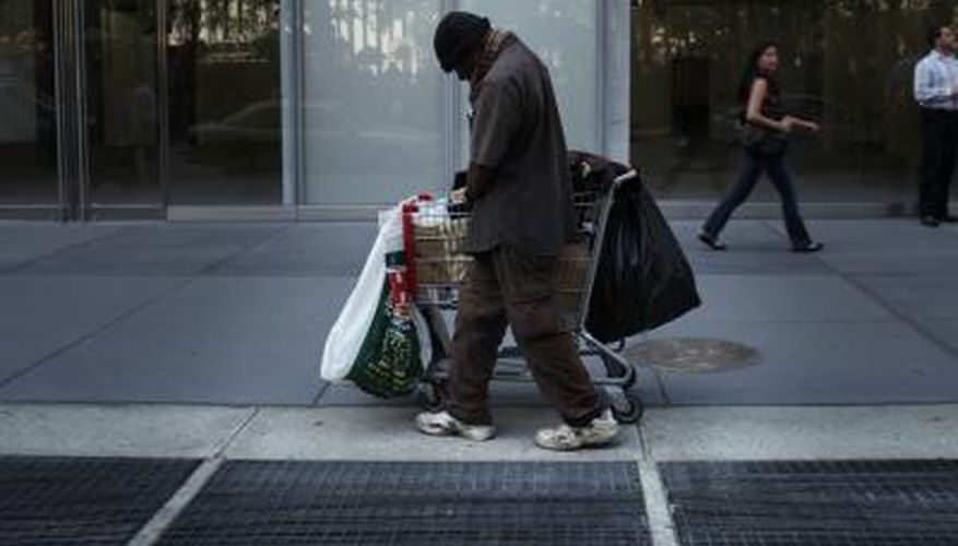 Many homeless people live on the streets, in shelters or at friends' or family members' homes.