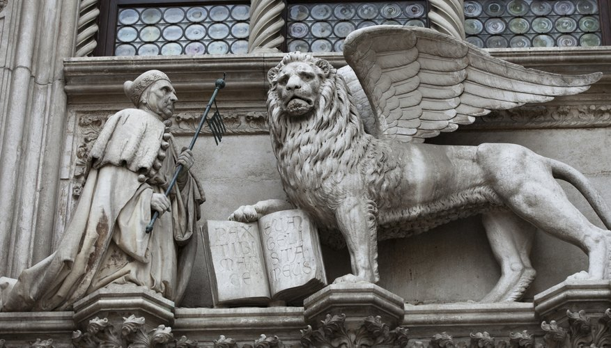 The winged lion of St. Mark.