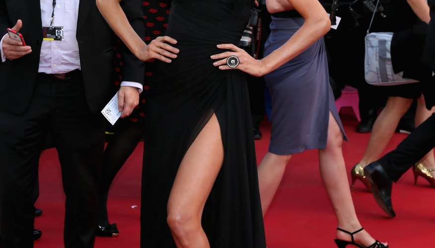 Izabel Goulart wears a strapless gown and necklace to the premiere of