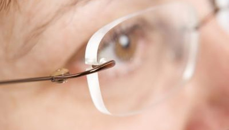 Rimless glasses are complimentary and lightweight.
