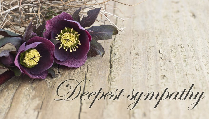A sympathy card with flowers.
