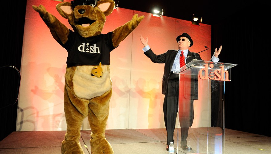 The DISH mascot Hopper is introduced by DISH's CEO Tim Clayton.