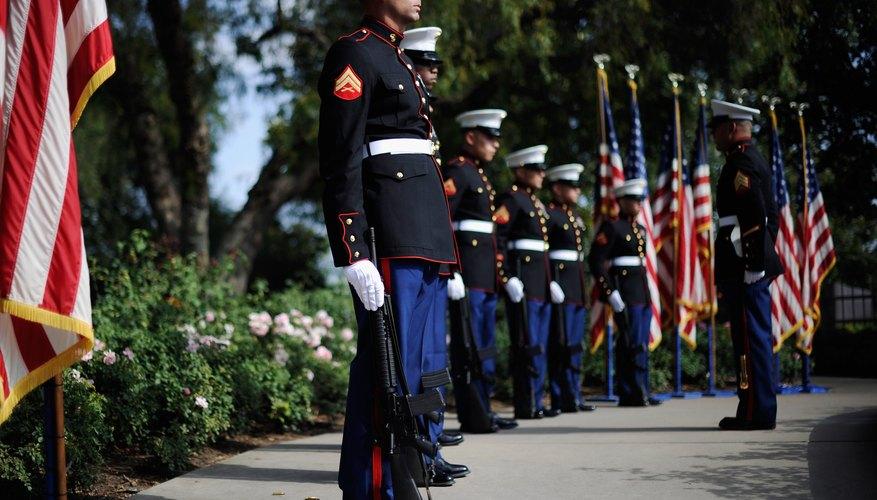 Marine Corps Battalion perform 21 gun salute