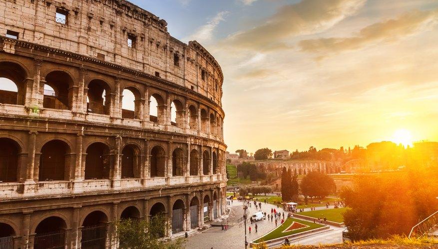Ruinas históricas en Roma.