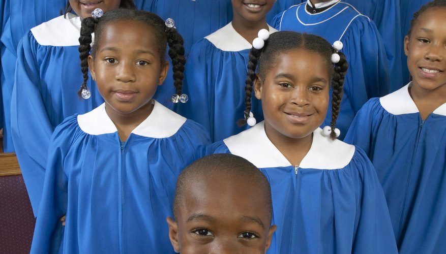 Children singing in a gospel choir.
