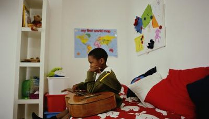 Decorate your autistic child's bedroom according to his needs.
