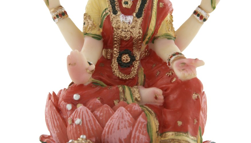 God manifests in unlimited forms, including as the goddess of prosperity Lakshmi.