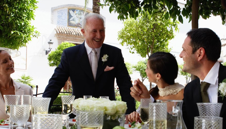 As host, the father of the bride makes the first speech.