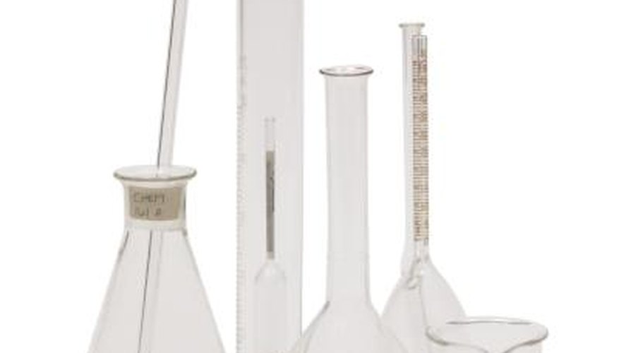 Acetate can be produced from vinegar with laboratory materials.