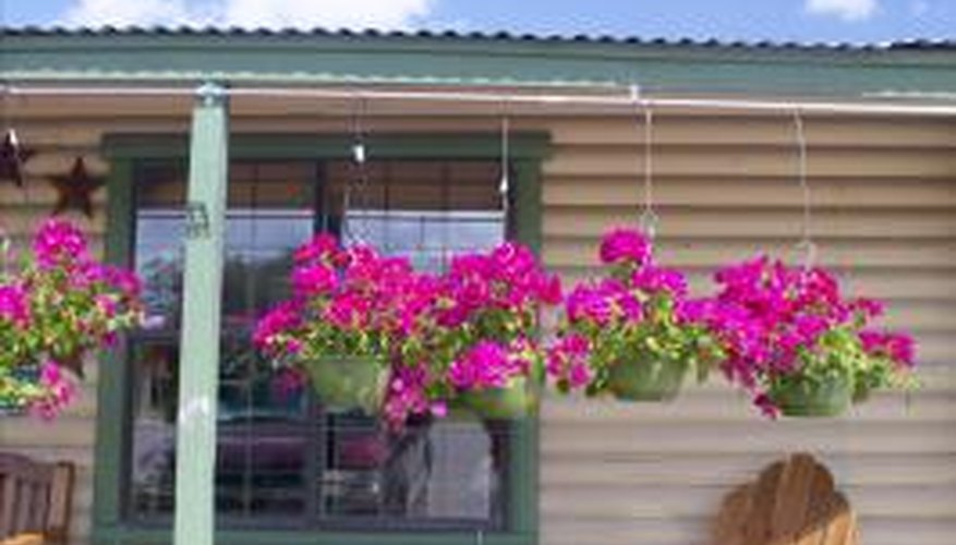 Mobile homes have wall boards that are easily damaged.