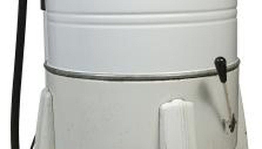 Washing machines of the early 1950s had an attached wringer for removing water from clothes.