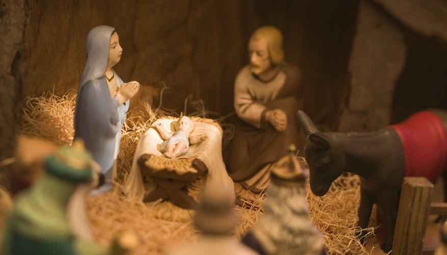 Nativity scenes are a Christmas tradition.