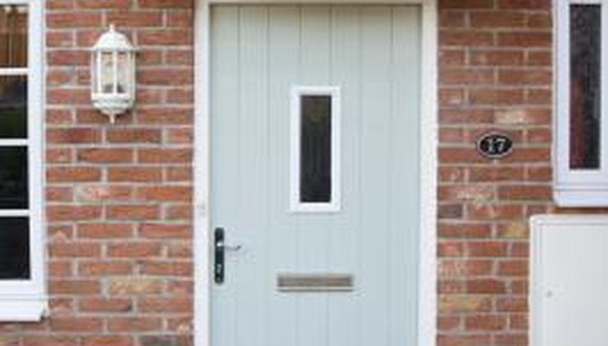 Magnesium and calcium in water produce stains on brick homes.