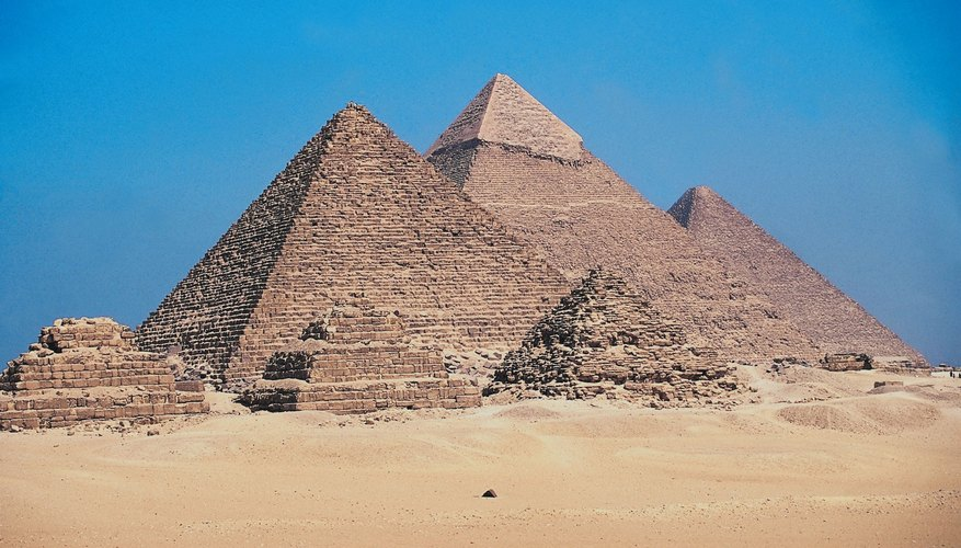 The Egyptian pyramids are monuments to belief in the afterlife.
