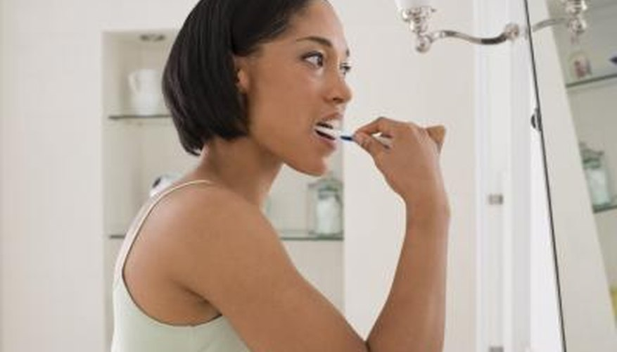 Brushing your tongue with your toothbrush can remove stains in a matter of minutes.