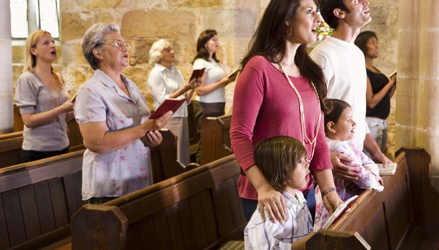 A baptismal service is an occasion for families to worship together.