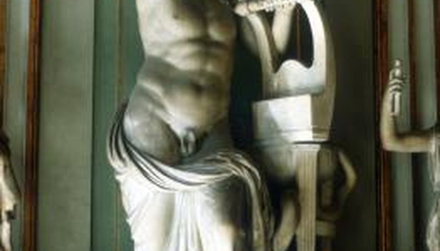 Apollo was typically depicted as a muscled youth with curly hair.