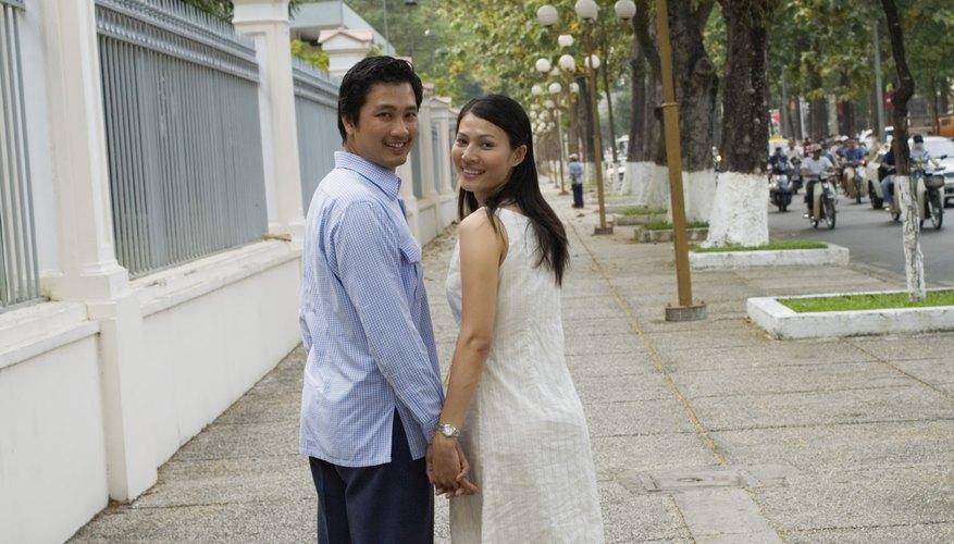 Handholding in public is improper behavior for non-married couples in Vietnam.