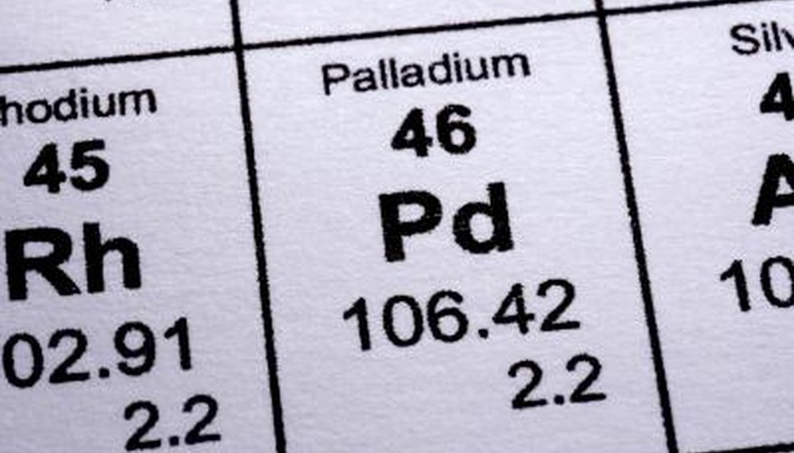 Palladium is a pure metal that's often used as an alternative to platinum.