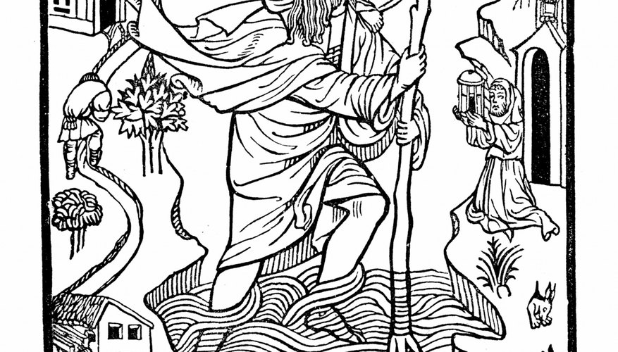 St. Christopher is often depicted carrying Christ on his back.
