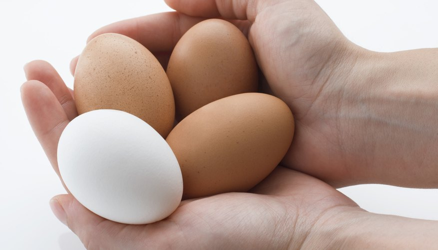 Eggs won't float in a plain glass of tap water.