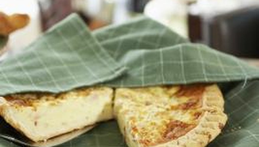 Quiche can be served plain or with sauce