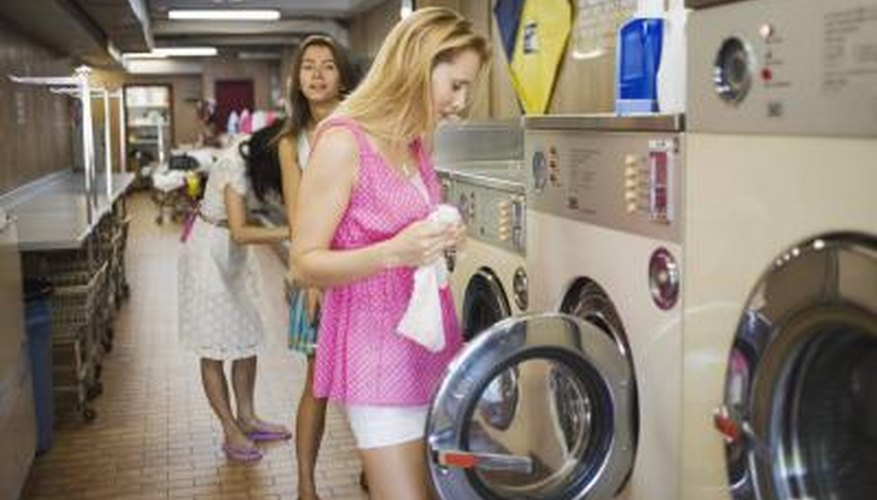 A coin laundry generates income from customers using self-service laundry equipment.