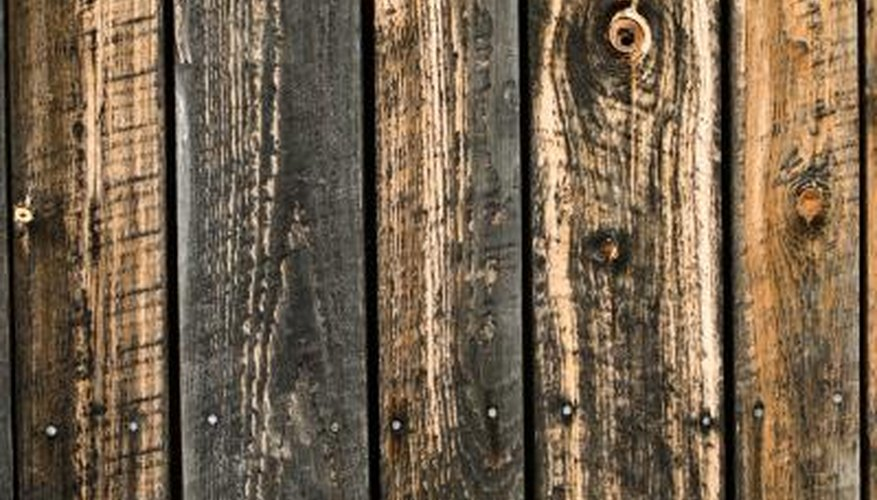 Weathered wood requires some special prep work before painting.