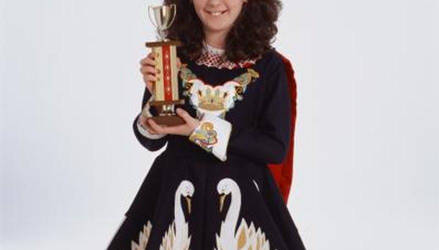 Irish dance competition winner