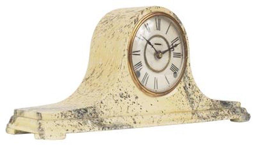 Mechanical mantel clocks require timing adjustments.