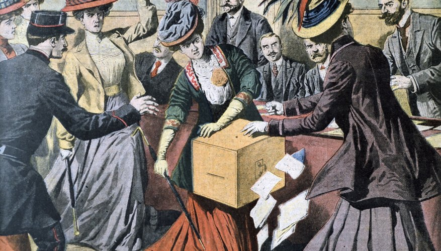 The women's suffrage movement fought for voting rights.