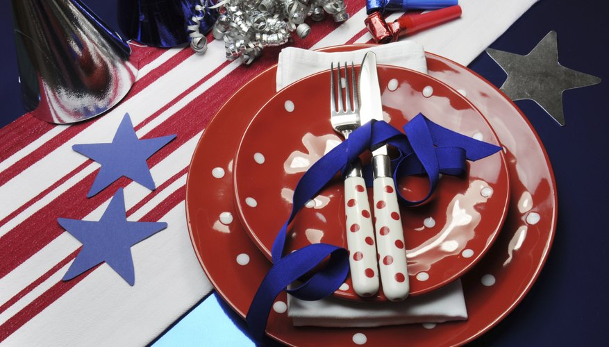 American themed decorations.