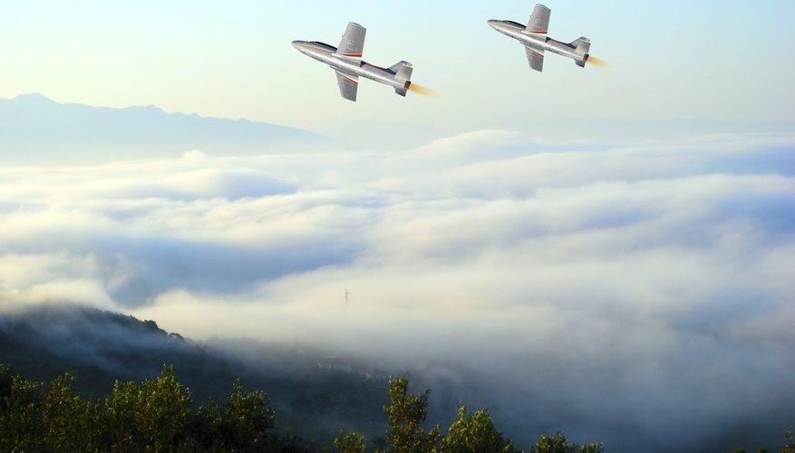 Military combat jets