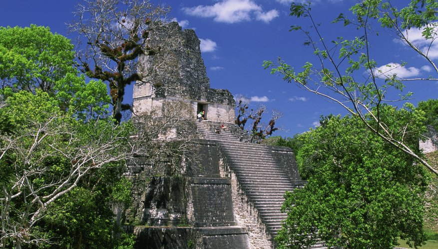 The ruins of El Zotz and Tikal are less than a day's walk apart from each other in Guatemala.
