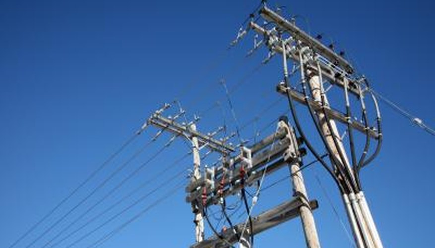Three-phase electricity requires three wires for transmission and connection.