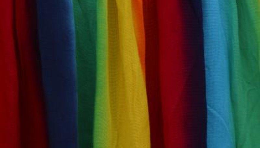 Dye silk chiffon using fibre-reactive dyes.