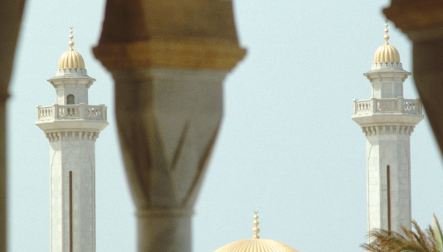 Adhan is announced at mosques to call Muslims to prayer.