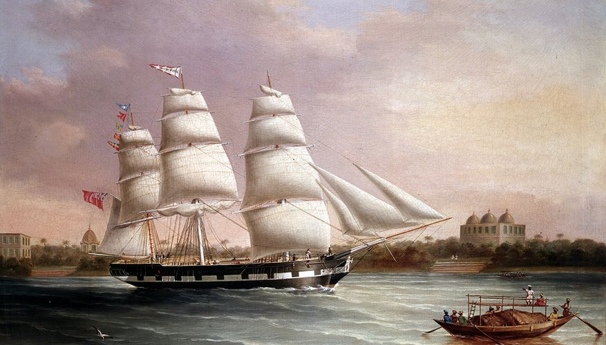 More than 20 trade ships sailed each year between England and India.