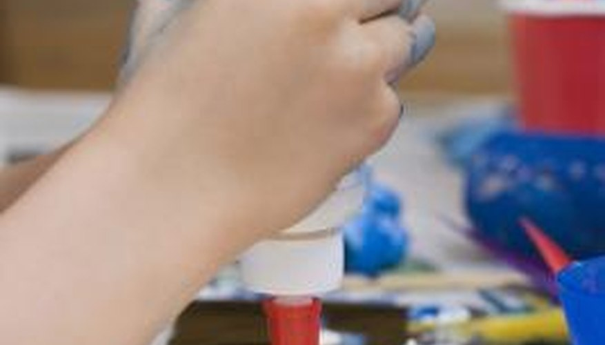 Keep an eye on your children when they are using glue.