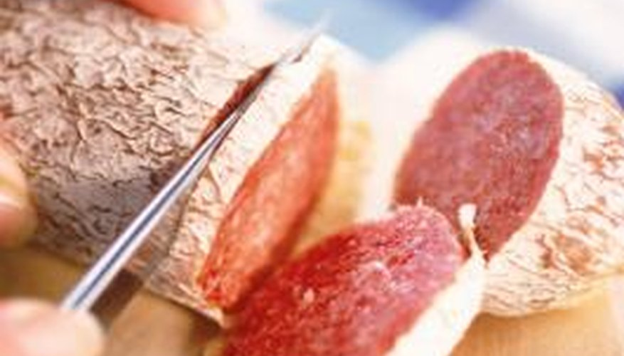Check the texture, smell and colour of salami before serving.